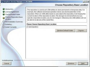 Figure 6 - Choose Repository Location