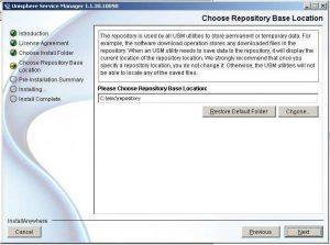Figure 6 - Choose Repository Location