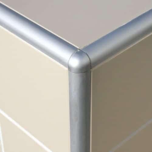 genesis round tile trim metal external corners eac