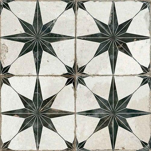 future star black white matt pattern floor tile