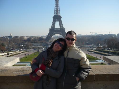 Eiffelovka z diaľky