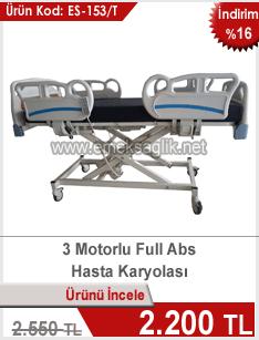 Yeni tasarım 3 motorlu hasta karyolası
