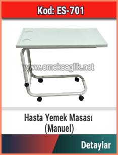 Hasta Yemek Masası Manuel Model