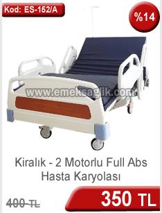 Kiralık full abs 2 motorlu hasta karyolası