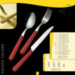 Domestic coloured handle cutlery