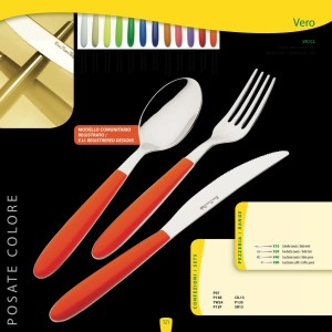 Coloured handle cutlery