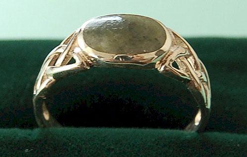 Rings Ladies Celtic Connemara Marble Ring