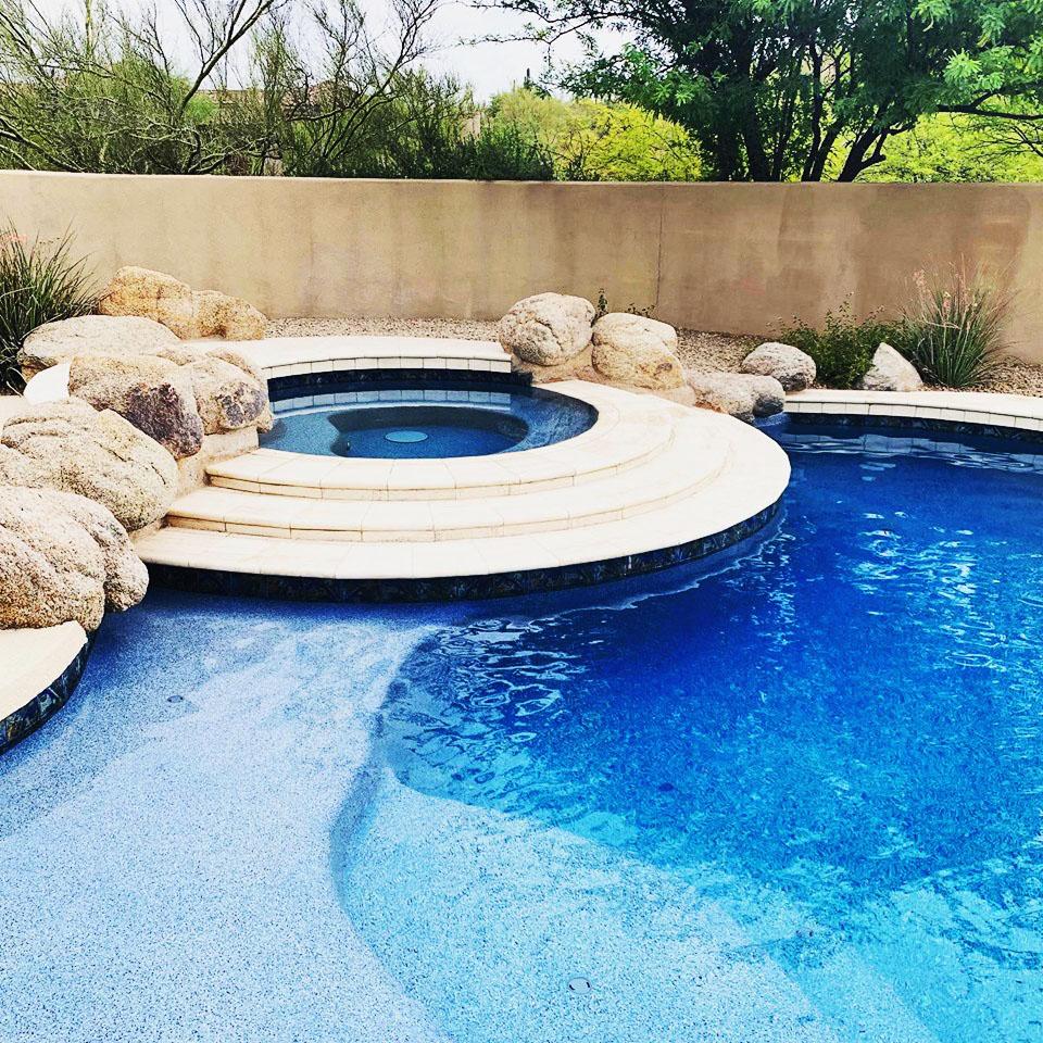 pool remodeling pebbletec resurfacing