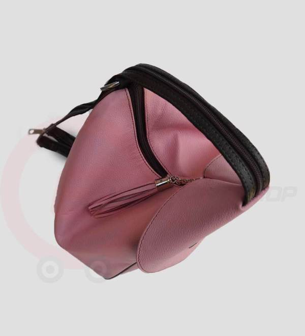 Student-Leather-Backpack-Pink-Top