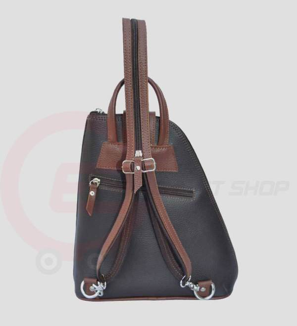 Women-Leather-student-Backpack-back-open-zip