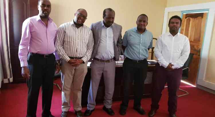 With Isiolo Chief Officer of Health and team adopting Project47