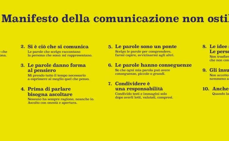 Parole O_Stili: 10 punti per una comunicazione consapevole e non ostile