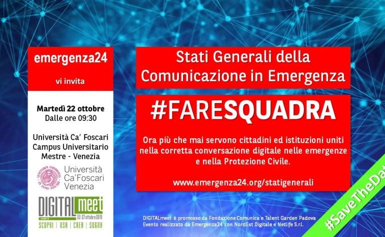 Nuovo appuntamento a Venezia con gli Stati Generali della Comunicazione in Emergenza