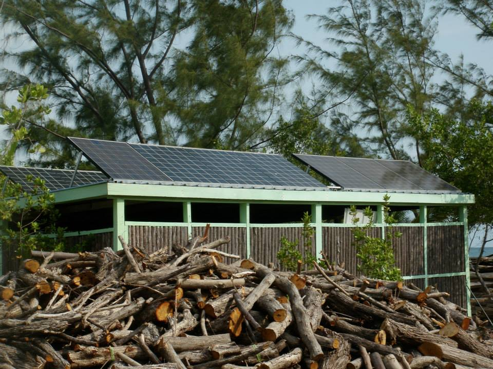 Thatch Cay powered by wind and solar.