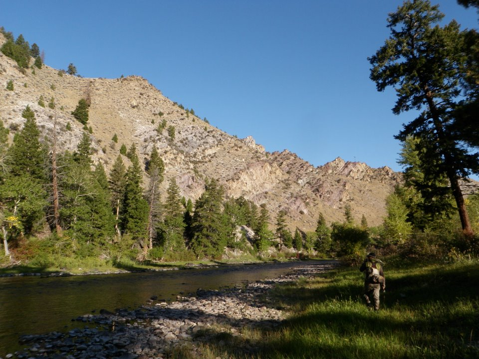 Fishing the Big Hole River.