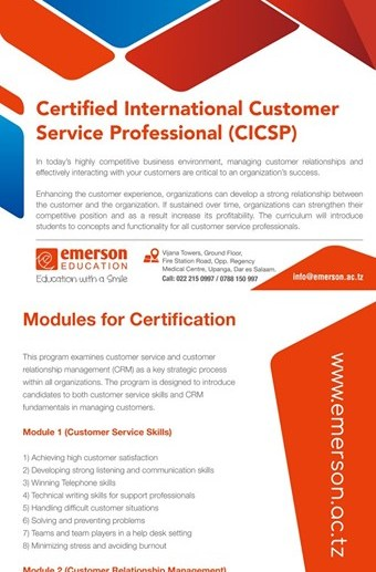 Certified International Customer Service Professional (CICSP