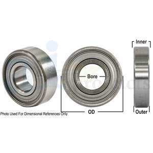 Bearing Ball Cylindical Round Bore dimensions