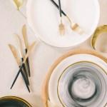 Smoke Swirl Glass Charger Salad Plate Wedding Elizabeth Fogarty Emerson James Rental Emerson James Rentals
