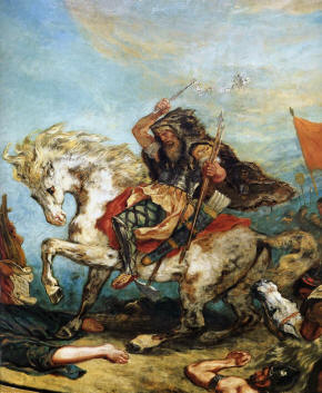 Attila the Hun, ? - 453, PAINTING BY EUGENE DELACROIX