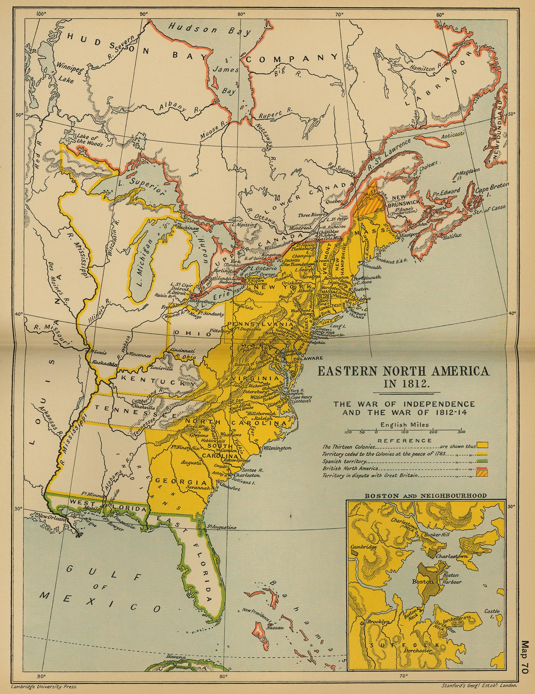 Map Of Eastern North America