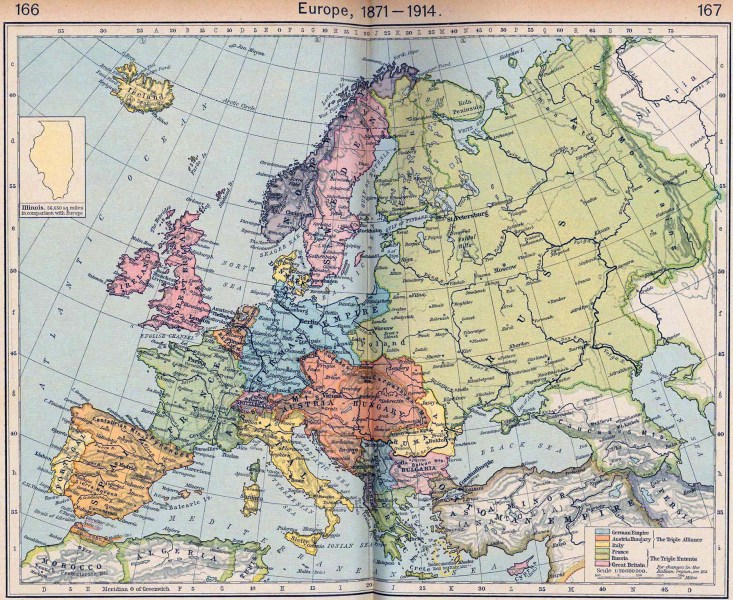 Map of Europe 1871 1914