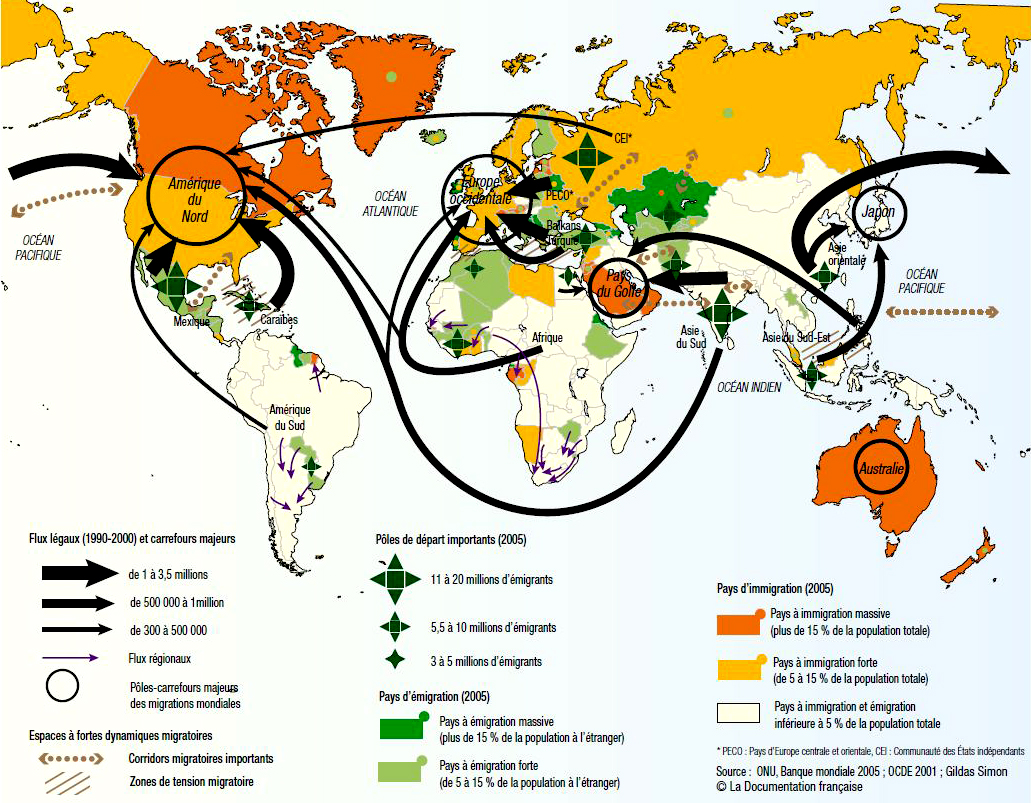 World Immigration Map Afp Cv
