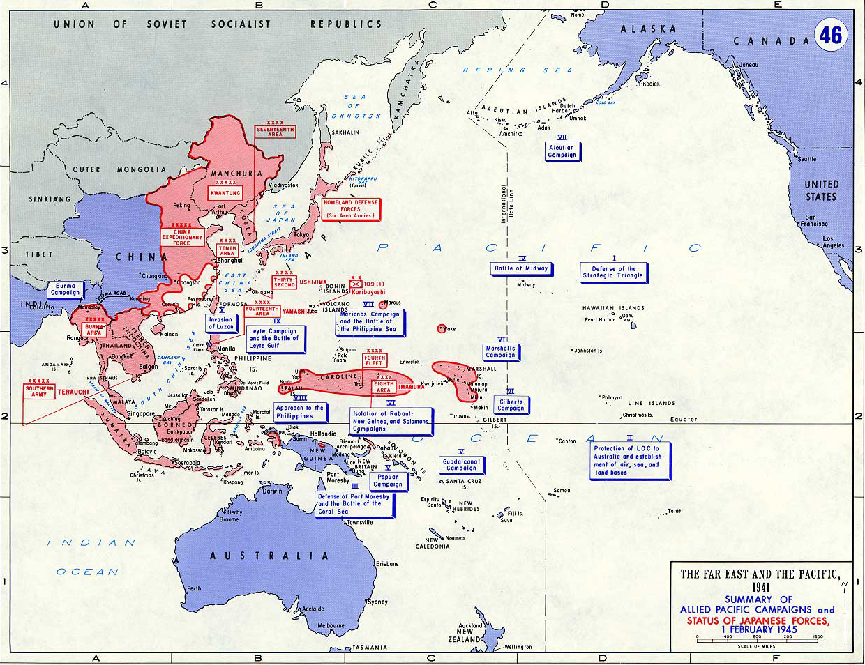 Map Of Wwii Pacific February