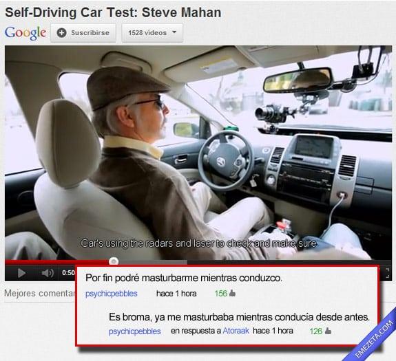 Los mejores comentarios de youtube: Auto conduccion