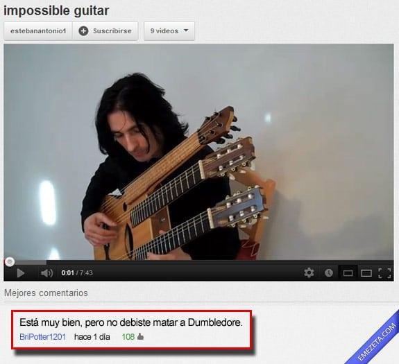 Los mejores comentarios de youtube: Guitarra imposible