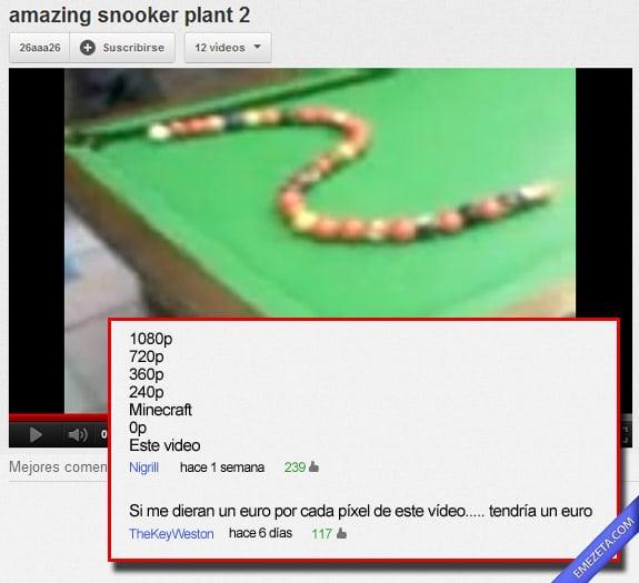 Los mejores comentarios de youtube: Pocos pixels