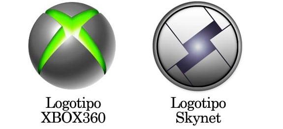 Similitudes entre el logotipo de XBOX 360 y el logotipo de Skynet