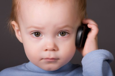 emf dangers from baby on a cell phone