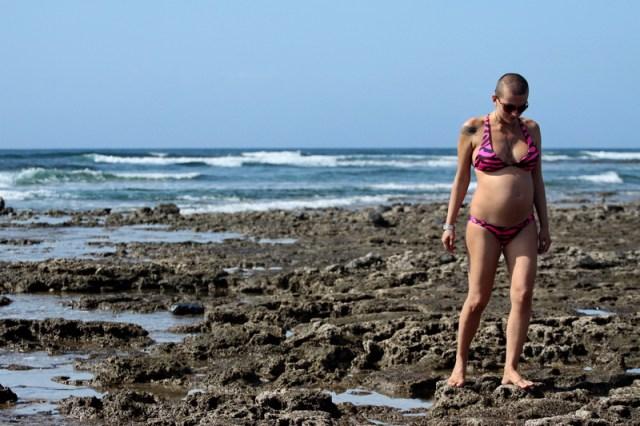Februarie 2012, cu doua saptamani inainte de nasterea lui Yago, 67 kg
