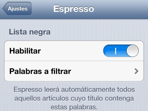 Captura de Espresso para iPhone