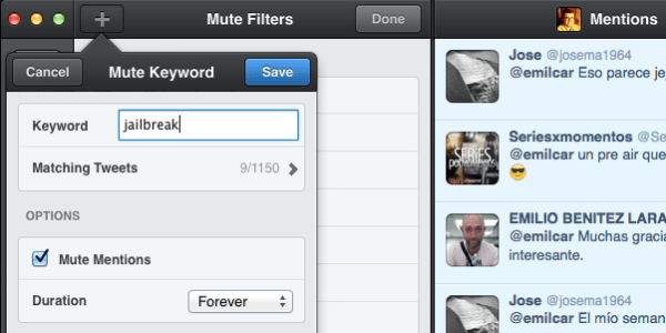 Captura de Tweetbot para Mac