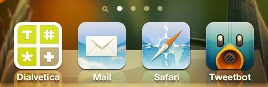 Icono de Mail en el dock del iPhone