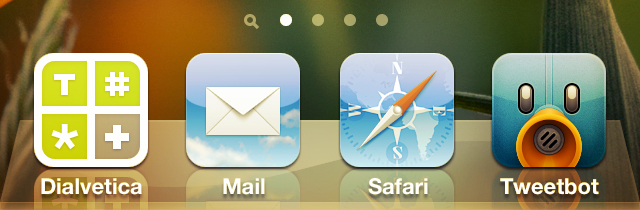 Icono de Mail en el dock del iPhone