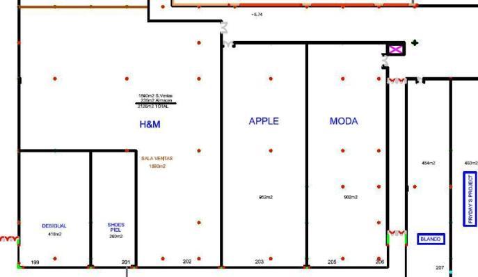 Captura del fragmento del plano donde se ve el nombre de Apple