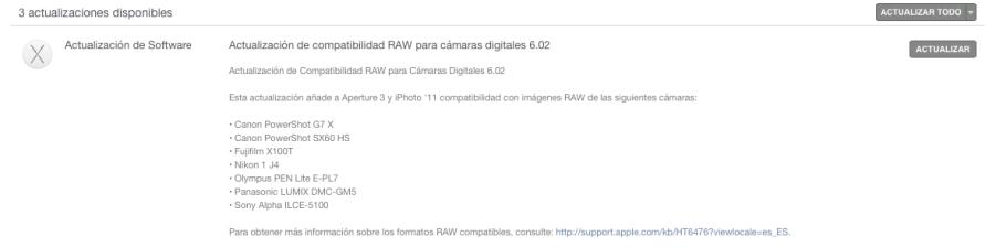 Raw support update