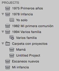 Proyectos originales en Aperture
