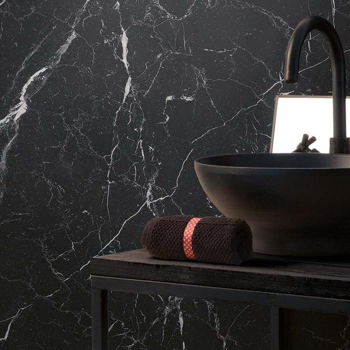 black marble effect bathroom tiles is