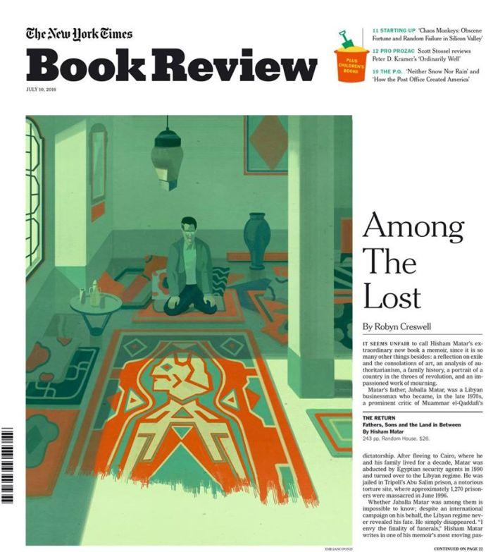 The New York Times book review cover • Hisham Matar - Emiliano Ponzi