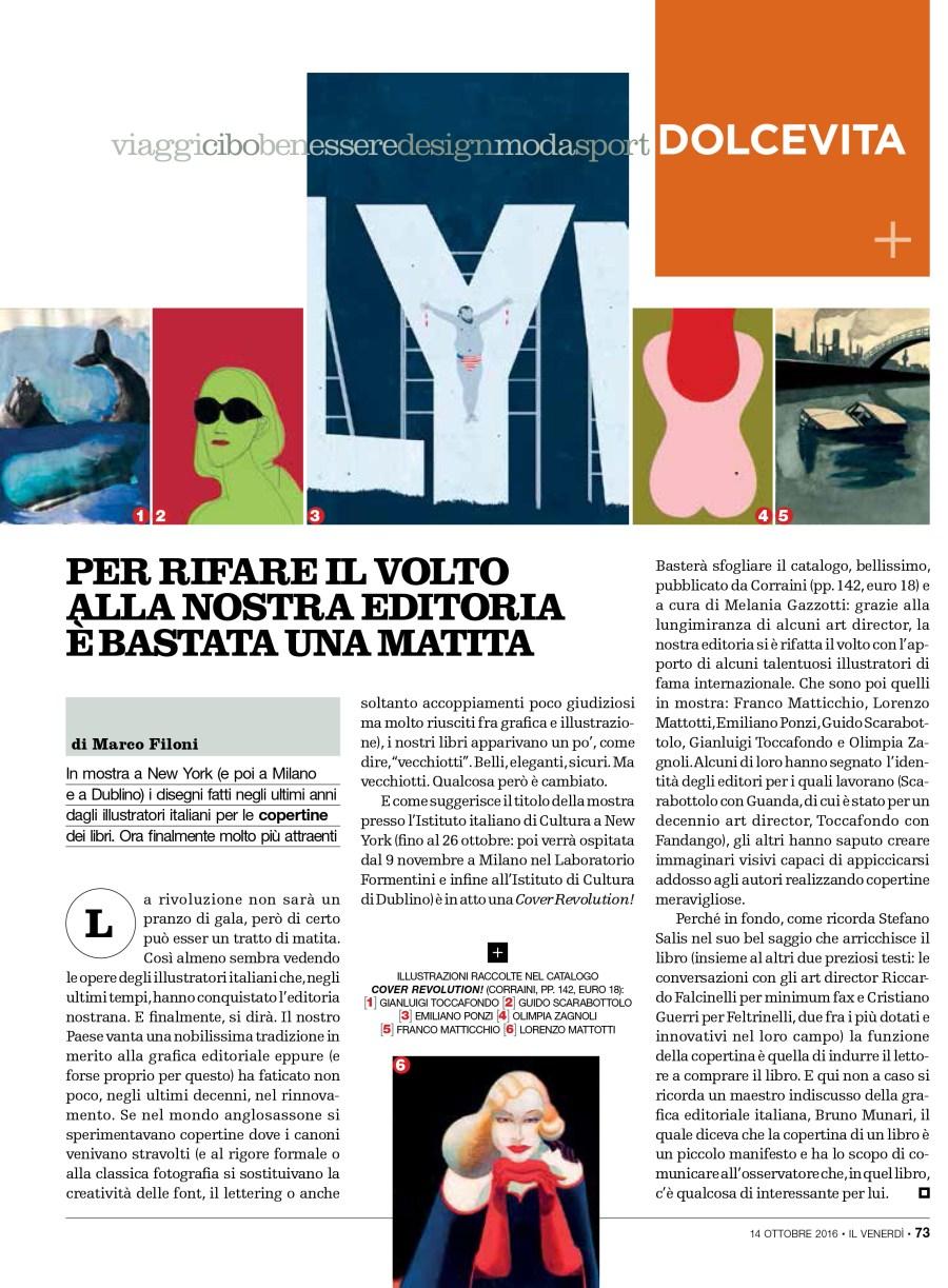 Cover revolution illustratori italiani copertina marco filoni emiliano ponzi