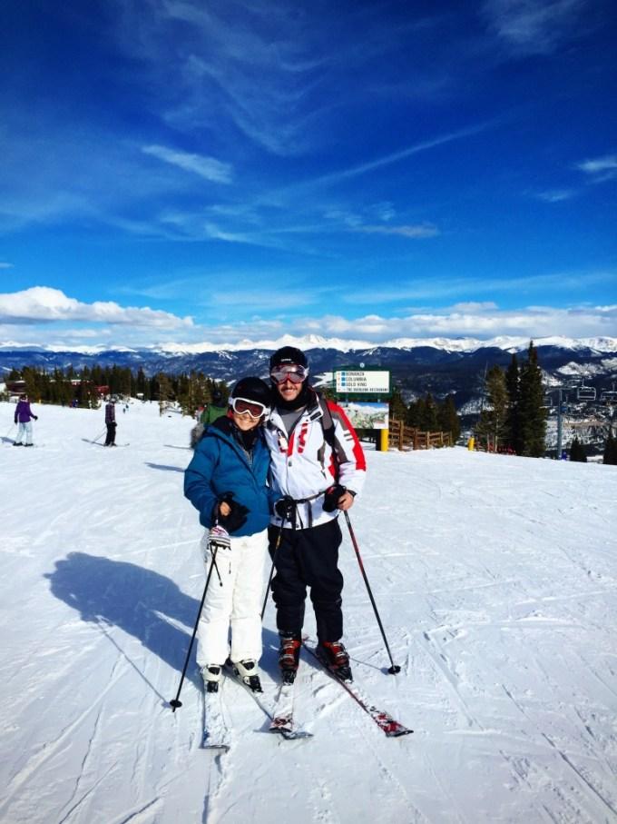 My boyfriend and I on our ski vacation in Breckenridge, Colorado!
