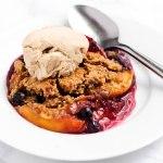 Vegan Peach Blueberry Cobbler (gluten-free)