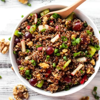 Curried Quinoa Salad with Grapes and Walnuts