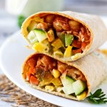 Vegan BBQ Chickpea Wrap