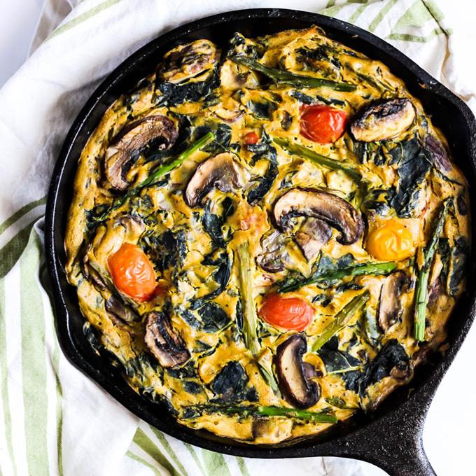 Asparagus & Mushroom Vegan Quiche