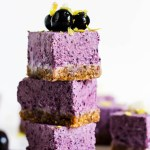 No Bake Lemon Blueberry Cheesecake Bars (vegan & gluten-free)