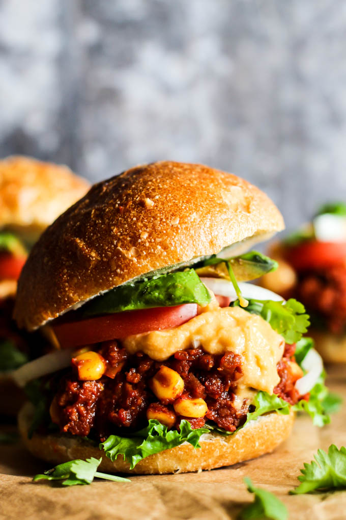 Burger night just got way better! These Mini Mexican Vegan Sloppy Joes make for a hearty, wholesome, flavorful dinner that'll satisfy everyone at the table.
